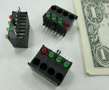 Lot 10 Mounted LED Light Bars 1 Red 3 Green Megery Circuit Board Instrumentation