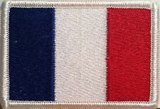 FRANCE Flag Patch With VELCRO® Brand Fastener Military Emblem #3