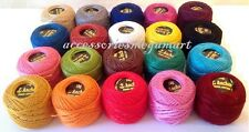 20 ANCHOR pearl Cotton embroidery thread. Size 8  balls basic solid fast colours