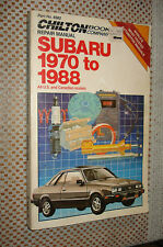 1970-1988 SUBARU SERVICE MANUAL SHOP BOOK 86 87 85 84 83 82 81 80 79 78 77 76 75