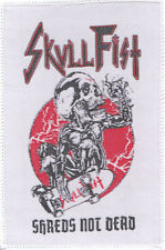 SKULL FIST Patch SHREDS NOT DEAD Aufnäher ♫ Speed Metal ♫ Canada ♫ Skullfist