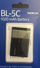 Original Nokia BL-5C, BL5C Battery (new Design) 1020mAh Li - Ion 3.7V, 3.8Wh