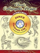 Dover Electronic Clip Art: Classic Calligraphic Designs by Dover (2002, Paperbac