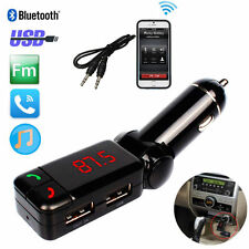 Glamor LCD Bluetooth Car Kit FM Transmitter MP3 USB Charger Handsfree For iPhone