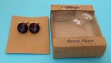 Brave Heart Cuff Links Made in Scotland Never Used T35