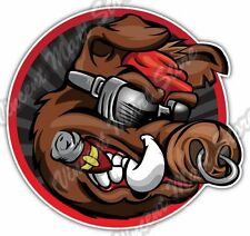 Wild Boar Cool Pig Cigar Hunting Bacon Car Bumper Vinyl Sticker Decal 4.6""