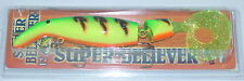 "12"" Super Believer Drifter Tackle Musky Pike Firetiger with Chart Sparkle Tail"