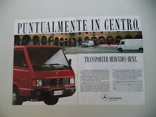 advertising Pubblicità 1989 MERCEDES BENZ TRANSPORTER MB 100 D