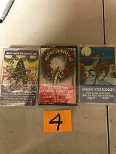 (3) NEW SEALED Assorted Christmas Music Cassette Tapes  (G) (4)