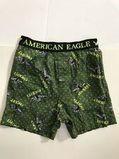AMERICAN EAGLE GREEN W/HELICOPTER DESIGN BOXER SHORTS MENS SIZE M
