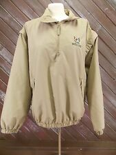 Tres Bien Hunters Creek Windbreaker Jacket 1/4 Zip Up Tan Men's Size M