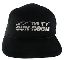 The Gun Room Trucker SnapBack Hat Cap AR15 Rifile Pistol Revolver Black