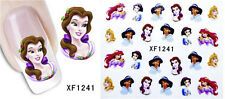 Watertransfer 3D Decals Stickers Nail Art Manicure Tips Disney Princess Decor D3