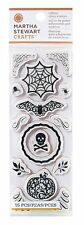 Martha Stewart Rubber Cling Stamp 15pc Halloween Haunted filigree pumpkin card