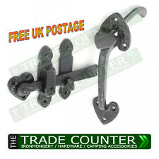 "Thumb Latch Black Antique Cottage Suffolk Cast Iron  8"" 200mm"