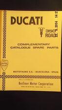 Ducati 350 Da Strada Complementari Ricambi Catalogo [4-74]