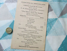 BBC from Inside FH GRISEWOOD Catford Methodist Church 1943 Original Programme