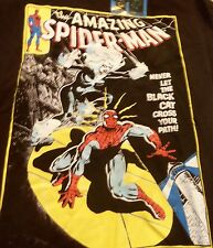 MARVEL COMICS SPIDERMAN MENS TSHIRT BLACK SIZE LARGE NEW COLOR GLOW in the DARK