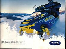 2003 POLARIS SNOWMOBILE CLOTHING & ACCESSORIES SALES BROCHURE 98 PAGES  (833)