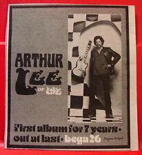 """Arthur Lee Self-Titled Vintage ORIGINAL 1981 Press/Magazine ADVERT 4""""x3.5 Love"""