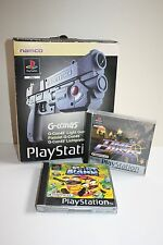 TIME CRISIS & POINT BLANK PS1 GAMES GCON 45 Gun Original Box Playstation 1 NAMCO