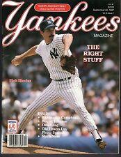 September 1987 VOL 8 #7 YANKEES MAGAZINE PROGRAM  Rick Rhoden on cover Ex-Mint +