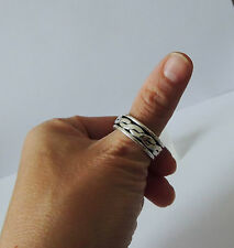925 STERLING SILVER SPINNER RING size X everyday wear