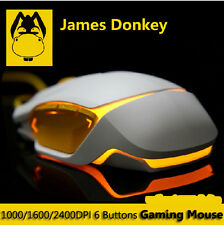 James Donkey LOFREE JD112 2400DPI 8D Optical 6 Buttons Usb Gaming Mouse WOW LOL