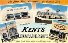 NJ,  New Jersey     THREE KENTS RESTAURANTS & Candy Store    Roadside Postcard