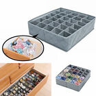 Foldable Bamboo Charcoal Underwear Socks Drawer Organizer Storage Box 30 Cells C