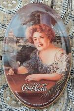"1984 USA REPRO COCA-COLA VICTORIAN WOMAN HANDHELD POCKET MIRROR - 2.75""x1.75"""