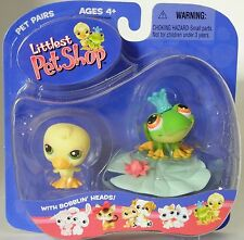 L1 Littlest Pet Shop 2004 baby ducky & frog prince on lilypad new in pack