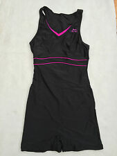LADIES SLAZENGER SWIMMING COSTUME WITH BOY SHORTS / LEG SUIT COSTUME SIZE 8