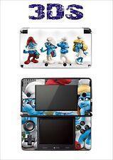 SKIN STICKER AUTOCOLLANT DECO POUR NINTENDO 3DS REF 3 SCHTROUMPFS