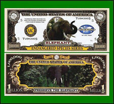 USA 1 Million Dollar Banknote 'Elephant' - Endangered Species Series - UNC