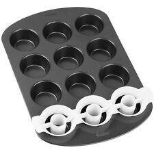 WILTON due toni Cupcake PAN SET PER TORTA ANTIADERENTE COTTURA TIN compreso INSERTO