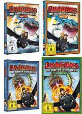 Dragons - Die Reiter von Berk - Vol. 1 & 2 & 3 & 4 (Staffel 1) - DVD - *NEU*