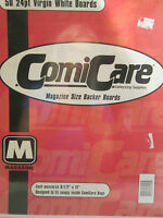Comic Care Magazine Size Backer Boards 50 count 24 pt. Virgin White  boards