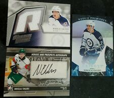 NIKOLAJ EHLERS 3 CARD AUTO JERSEY ROOKIE LOT! ITG PROS PROSPECTS TRILOGY RC JETS