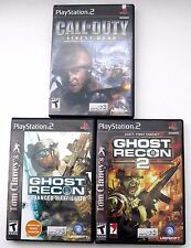 Tom Clancys Ghost Recon 2 and Advanced Warfighter PS2 COD Sony PlayStation 2