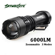 Tactical 6000LM CREE Q5 AA/14500 3Modes Zoom LED Flashlight Torch Lamp Light