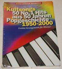 Kultsongs 50 No.1 Hits 50 Jahren Popgeschichte Heumann Klavier Notenbuch NEU OVP