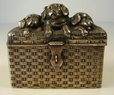 Antike schöne WMF Spardose Hunde Motive um 1910