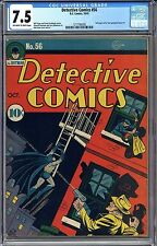 DETECTIVE COMICS #56 CGC 7.5 OW/WHITE Pages Tough in High Grade Free Shipping