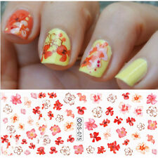Nail Art Water Decals Transfer Stickers Splendid Floral Crystal Design Manicure
