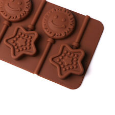 Star & Sun Lollipop Pop Mold Silicone Chocolate Mould Baking Tray Stick Party