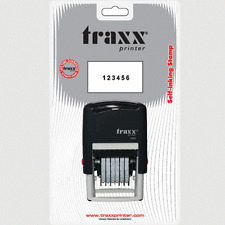 Traxx Manual Numberer Self Inking Rubber Stamp 6 Bands of Numbers And Symbols