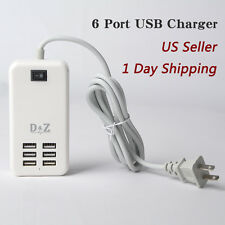 LOT 6 USB Port Charger Quick Charging Station Wall Desktop 6A for iPhone Samsung