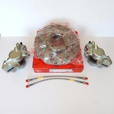 Pair of Brand New Front Brake Kit for MGB 1963-1980, Rotors, Calipers, SS Hoses