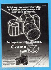 QUATTROR983-PUBBLICITA'/ADVERTISING-1983- CANON T50